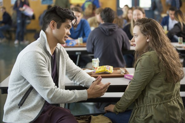 "Ross Butler as Zach and Katherine Langford as Hannah in Netflix's ""13 Reasons Why."""
