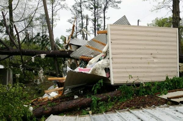 Image: Suspected tornado damage in Alabama
