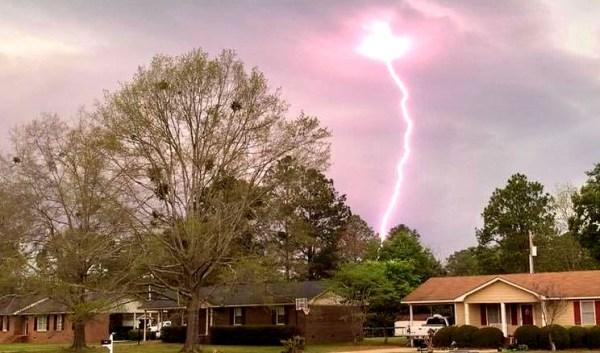 IMAGE: Lightning strike in Cordele, Georgia