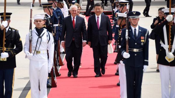 Image: US-CHINA-XI-ARRIVES