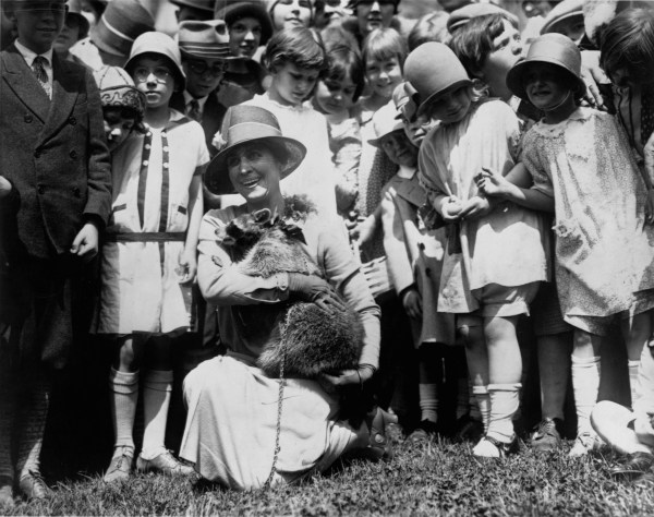 Image: Grace Coolidge and Her Pet Raccoon