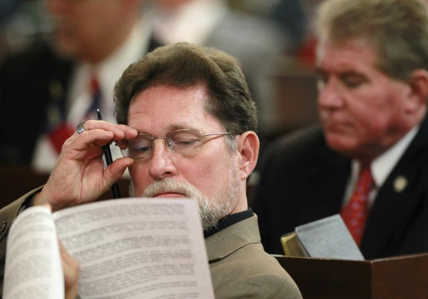 Image: Larry Pittman attends a House session