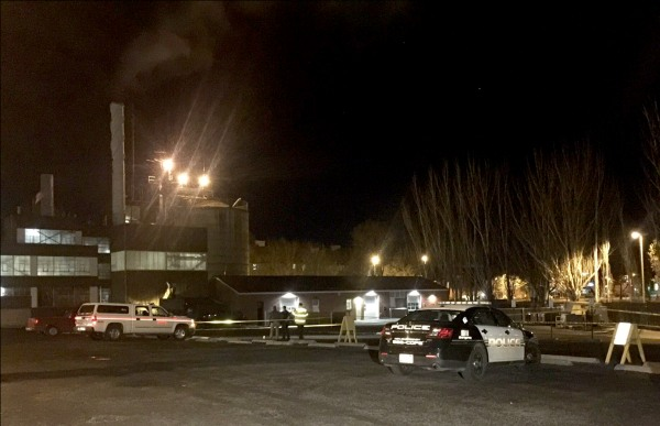 Image: The scene of an explosion at the University of Idaho, where four students were injured after a rocket test failed.