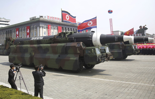 Image: Military experts say this appears to be a North Korean KN-08 Intercontinental Ballistic Missile (ICMB).