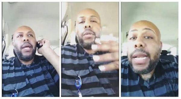 Image: A man who identified himself as Stevie Steve is seen in a video he broadcast of himself on Facebook Live