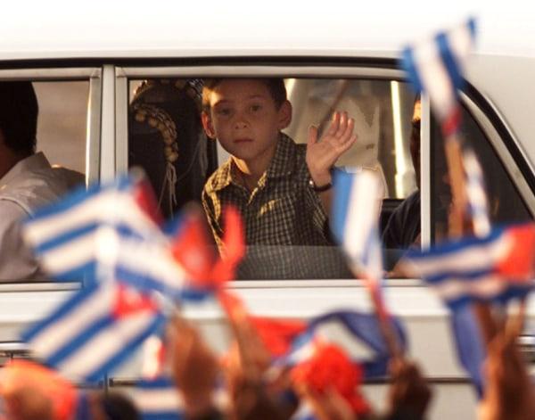 Image: CUBAN CASTAWAY ELIAN GONZALEZ ARRIVES IN HAVANA CUBA.