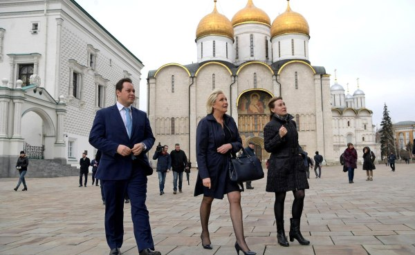 Image: French presidential candidate Marine Le Pen visits Russia