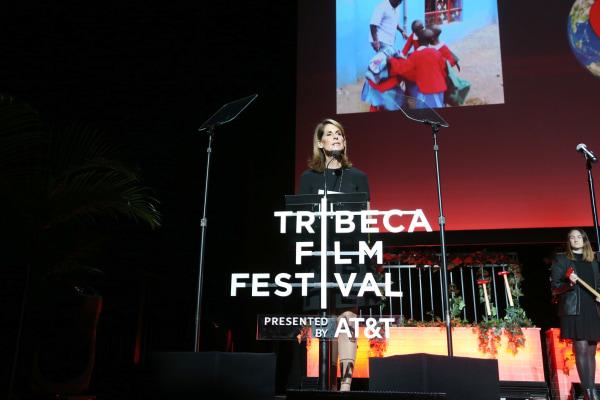 Image: Perri Peltz at TDI Awards - 2017 Tribeca Film Festival