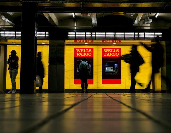 Image: Wells Fargo ATM machines in the Port Authority subway station in New York.