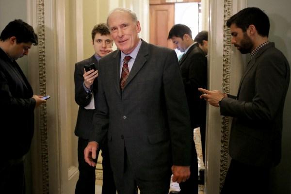 Image: Senator Dan Coats Speaks with Reporters
