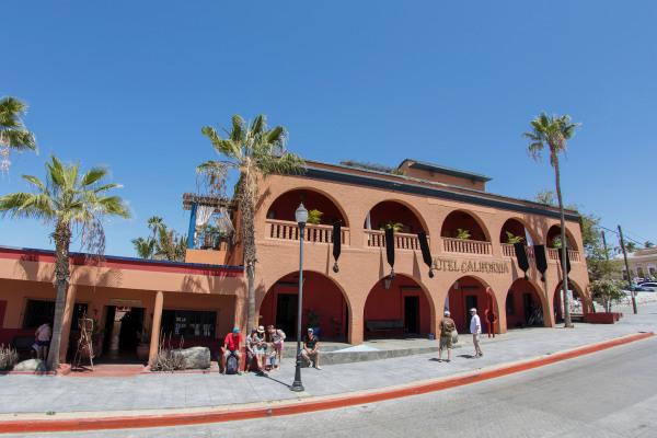 Image: The Hotel California in the town of Todos Santos, Baja California Sur, Mexico