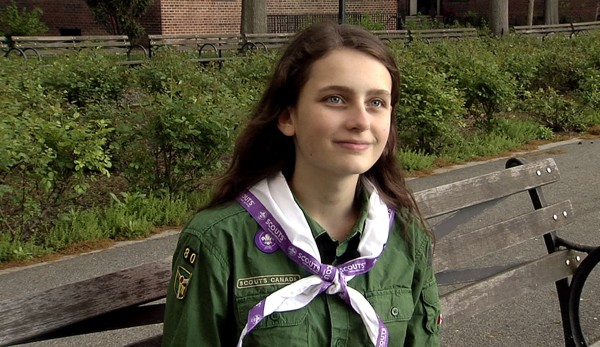 Image: Sydney Ireland has been an unofficial member of a local Boy Scout troop