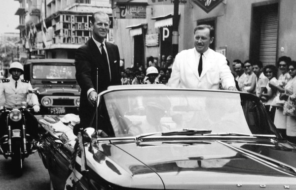 Image: Prince Philip (left) and Paraguayan dictator Alfredo Stroessner