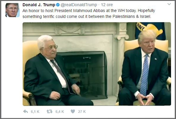Donald Trump vows to work for Israel-Palestine peace