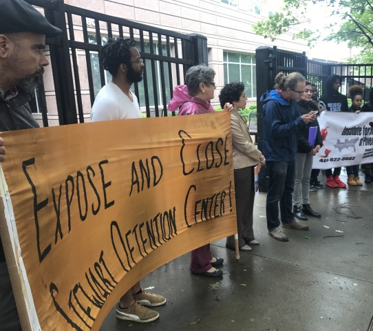 Protesters outside ICE Atlanta building
