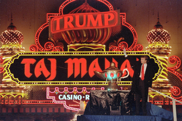 Image: Donald Trump attends the grand opening of the Trump Taj Mahal