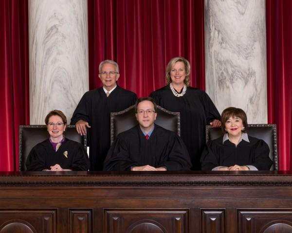 Image: 2017 West Virginia Supreme Court members
