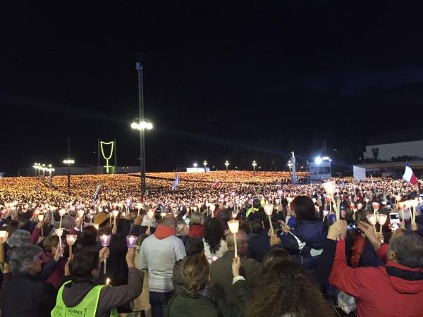 Image: Candle Light Vigil in Fatima, Portugal.