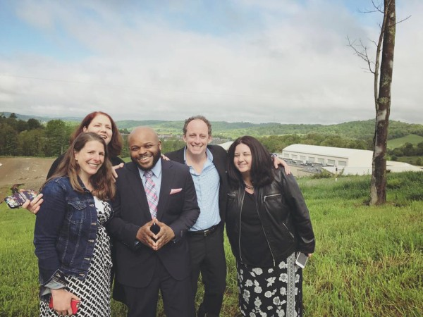 Image: Jimmy Dennis and his core legal team right after he was released