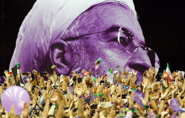 Image: Iranian Presidential candidate Hassan Rounahi election campaign rally in Tehran