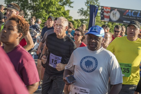 Image: Sen. Thom Tillis runs in the ACLI Capital Challenge 3 Mile Team Race in Washington