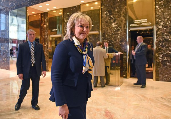 Image: Oklahoma Governor Mary Fallin arrives at Trump Tower