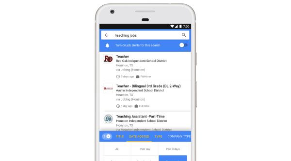 Image: Google's new jobs tool
