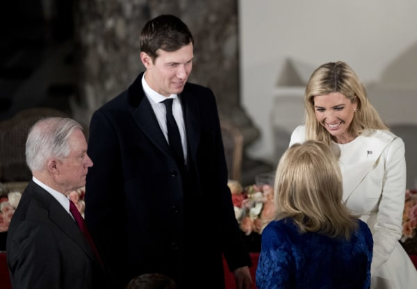Image: Jeff Sessions, Jared Kushner and Ivanka Trump