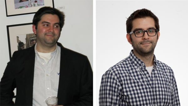 Image: Paul Smalera, before and after his 60 pound weight loss using Google docs