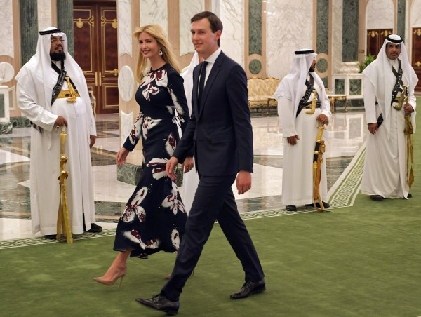 Image: Ivanka Trump and Jared Kushner arrive to attend the presentation of the Order of Abdulaziz al-Saud medal