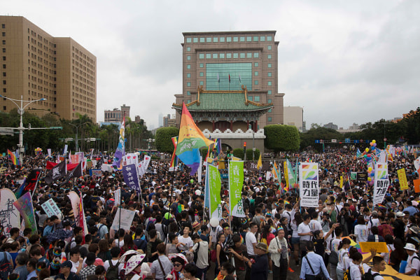 More than 100 000 people took to the streets to celebrate