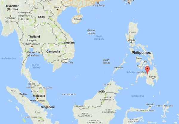 Image: Map showing Marawi City