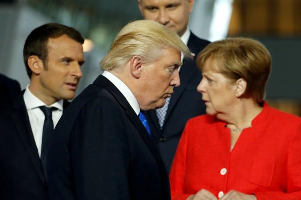 Image: Donald Trump and Angela Merkel
