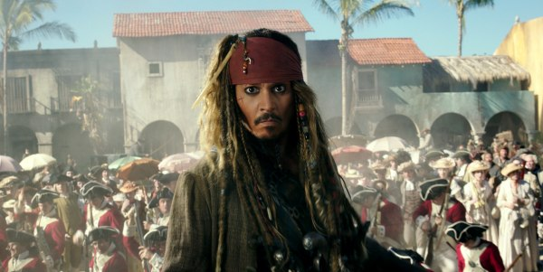 "Image: In this image released by Disney, Johnny Depp portrays Jack Sparrow in a scene from ""Pirates of the Caribbean: Dead Men Tell No Tales."""