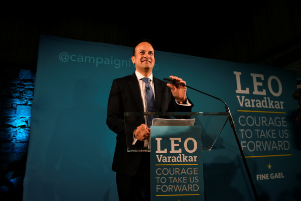 Image: Ireland's Minister for Social Protection Leo Varadkar launches his campaign bid for Fine Gael party leader in Dublin
