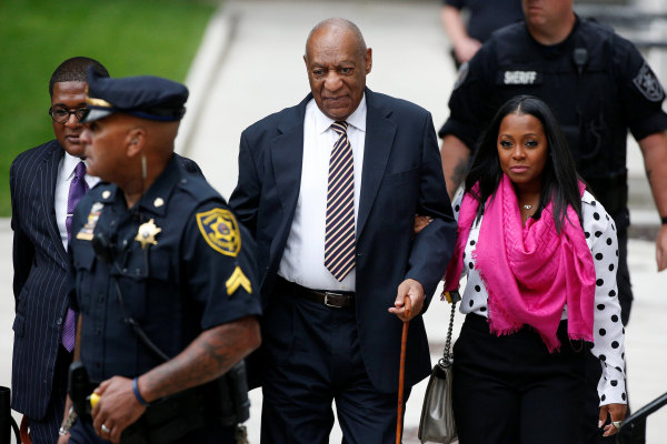 Image: Actor and comedian Bill Cosby arrives for the first day of his sexual assault trial at the Montgomery County Courthouse in Norristown