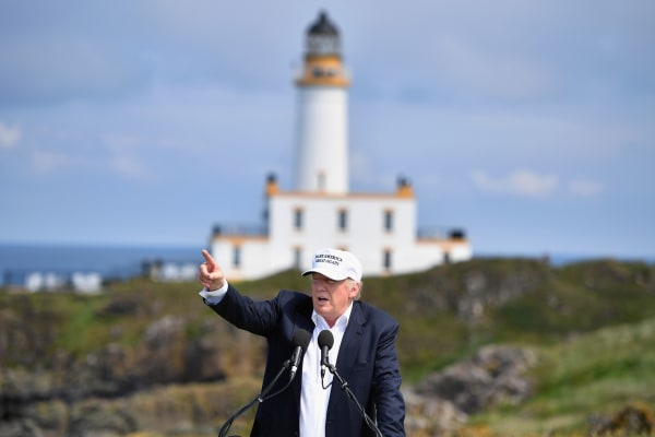 Image: Donald Trump at the Trump Turnberry in 2016