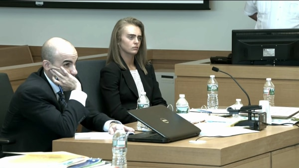 Image: Michelle Carter sits in court on day 2 of her trial in Massachusetts