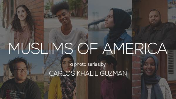 "The cover of Carlos Khalil Guzman's photo series ""Muslims in America"""