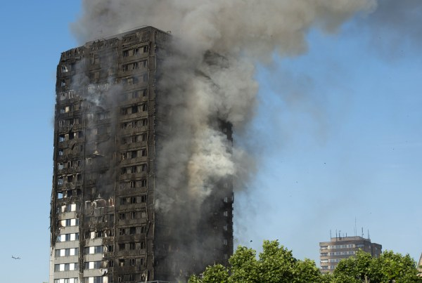 Image: Fire at Lancaster West Estate in London