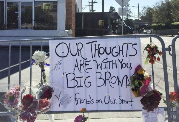Image: UPS Memorial Sign
