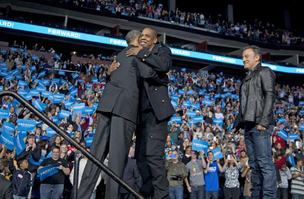 Barack Obama, Jya-Z, Bruce Springsteen