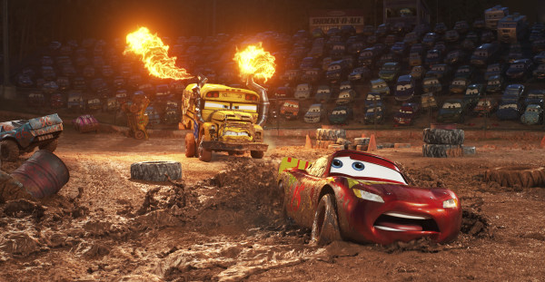 IMAGE: Scene from 'Cars 3'