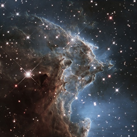 Image: A churning region of star birth in NGC 2174, also known as the Monkey Head Nebula, about 6400 light-years away in the constellation of Orion (The Hunter) is pictured in this handout infrared image mosaic from the NASA/ESA Hubble Space Telescope