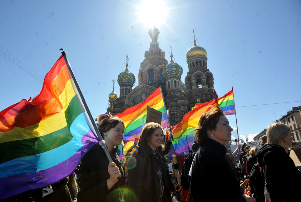 Image: RUSSIA-GAY-RIGHTS-PROTEST