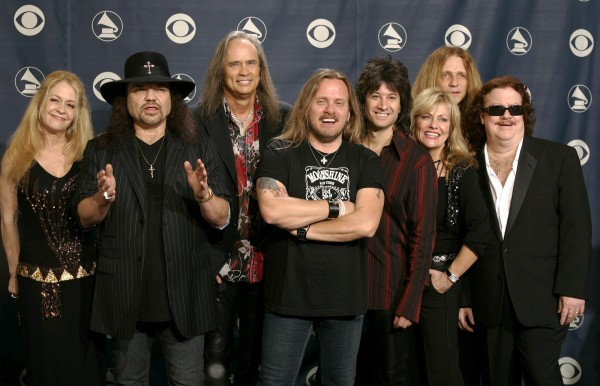 Image: FILE PHOTO - Members of the band Lynyrd Skynyrd backstage after performing in the 47th annual Grammy Awards in Los Angeles
