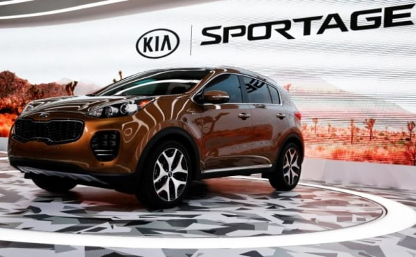 The 2017 Kia Sportage is introduced at the LA Auto Show in Los Angeles
