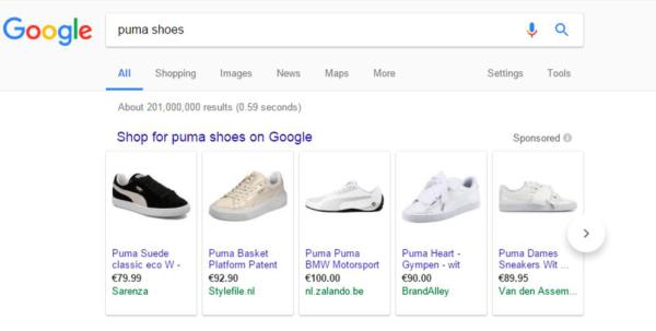 Image: Google shopping ad