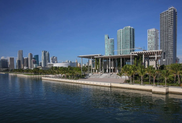Image: Perez Art Museum Miami, east facade August 2014