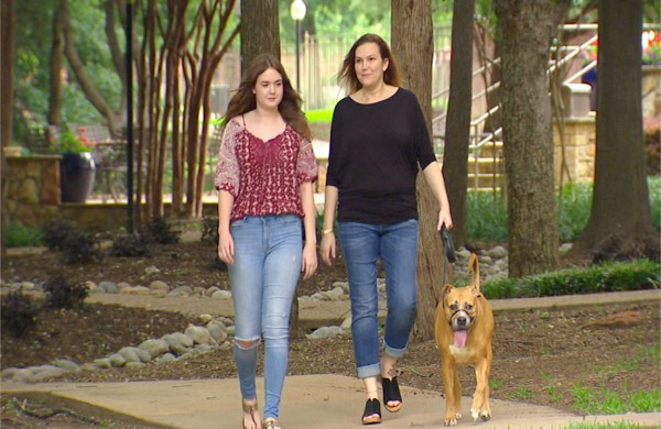 Image: Abby Smith, Anne Smith and their Dog